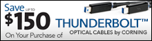 Corning Thunderbolt Optical Cables Promo