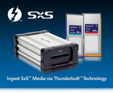 Ingest SxS Media via Thunderbolt Technology
