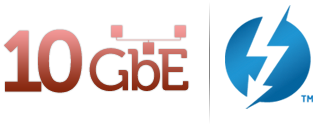 10GbE & Thunderbolt Logos