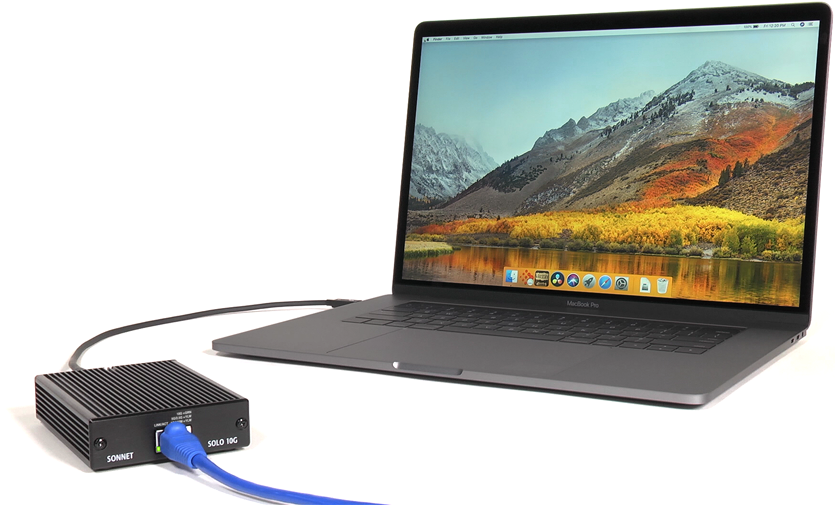 Solo 10G 10GbE Connected to MacBook Pro